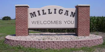 Milligan welcome sign